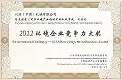 2012环境企业竞争力大奖